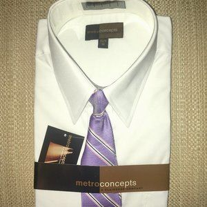 Boys Dress Shirt and Necktie